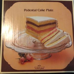 NWB- Vintage Boho/cottagecore glass cake pedestal